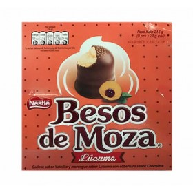 BESOS DE MOZA  - CHOCOLATE BONBONS WITH LUCUMA FLAVORED - BOX OF 9 UNITS