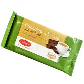 LA IBERICA - TABLET / BAR OF CHOCOLATE TO THE CUP ( A LA TAZA )  WITH SUGAR - TABLET X 100 GR